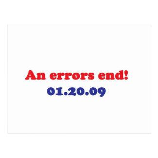 an errors end postcard