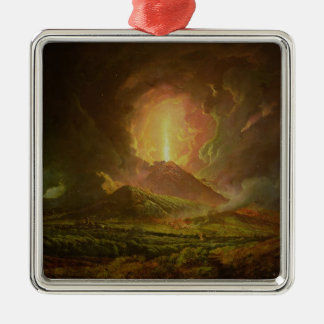 An Eruption of Vesuvius, seen from Portici Christmas Ornament