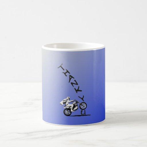 AN EVEL THANK YOU. blue. Coffee Mug