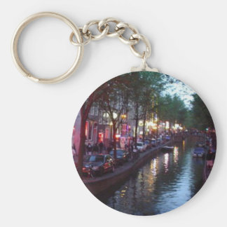 An evening in Amsterdam Basic Round Button Key Ring