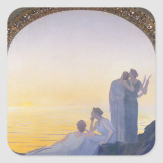 An Evening in Ancient Times, 1908 Square Sticker