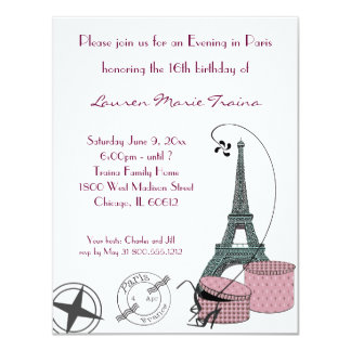 An Evening in Paris Party Invitation