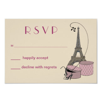 An Evening In Paris Party Response Card 9 Cm X 13 Cm Invitation Card