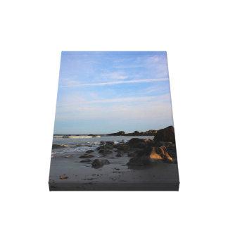 An Evening on The Hawk Beach Canvas Print