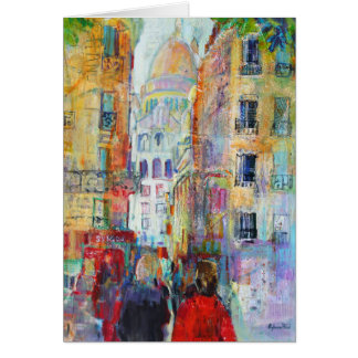 An Evening Walk to Sacre Coeur Card