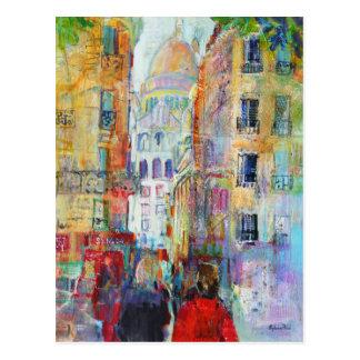 An Evening Walk to Sacre Coeur Postcard