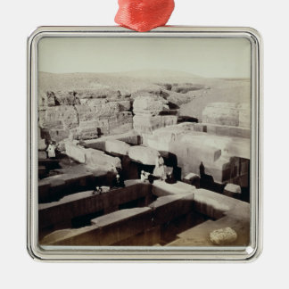 An Excavated Temple at the foot of the Sphinx, 4th Silver-Colored Square Decoration