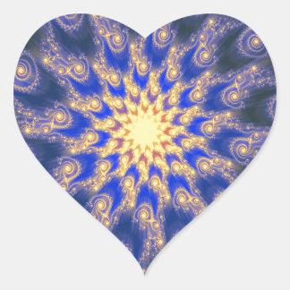 An Expanding Universe Heart Sticker