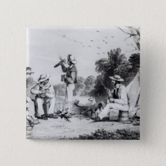 An exploring party 15 cm square badge