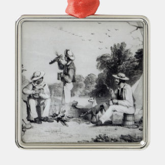 An exploring party christmas ornament