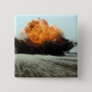An explosion erupts 15 cm square badge