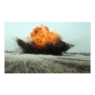 An explosion erupts photo print