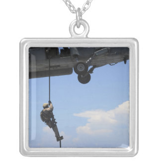 An explosive ordinance disposal technician silver plated necklace