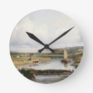 An Extensive River Landscape with a View of the Ch Wallclock