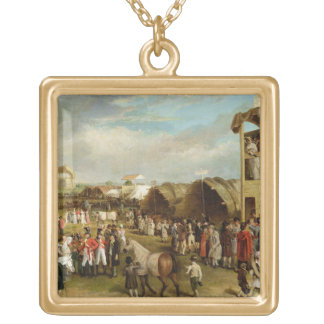 An Extensive View of the Oxford Races (oil on canv Necklaces
