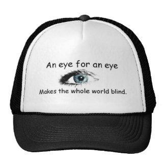 An eye for an eye mesh hat