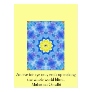 An eye for eye ... Gandhi  quote Postcard