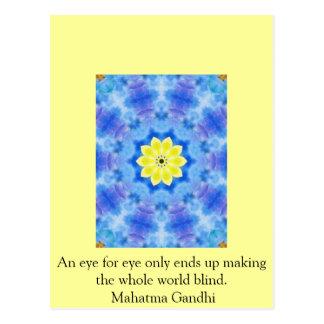An eye for eye ... Gandhi  quote Postcard
