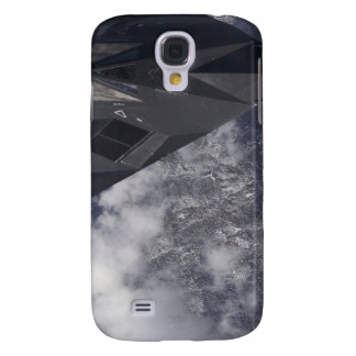 An F-117A Nighthawk flies high over the mountai Galaxy S4 Case