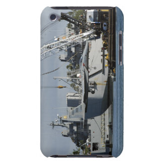 An F-15 Eagle gets a lift from a barge crane iPod Touch Case