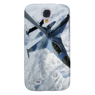 An F-16 Aggressor sits in contact position Samsung Galaxy S4 Cases