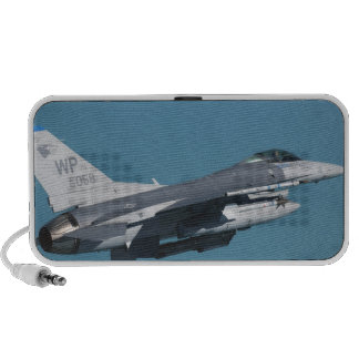 An F-16 Fighting Falcon in flight Portable Speakers