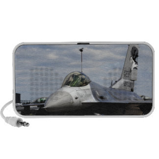 An F-16 Fighting Falcon iPod Speakers