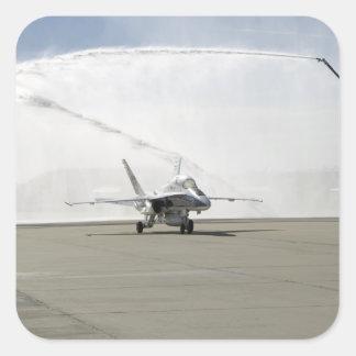 An F-18 aircraft Square Sticker