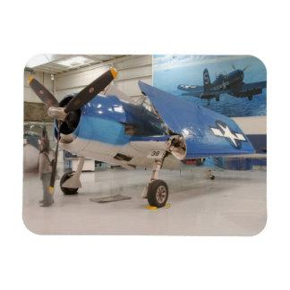 An F-6F Hellcat World War II fighter plane at Rectangular Photo Magnet