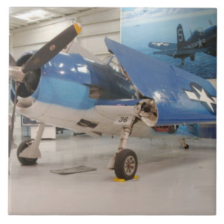 An F-6F Hellcat World War II fighter plane at Tile