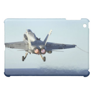 An F/A-18C Hornet launches from the flight deck iPad Mini Cover