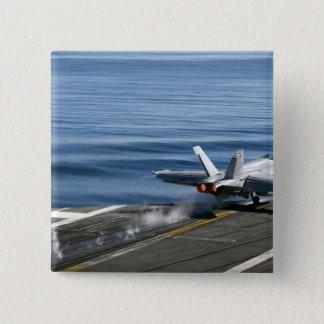An F/A-18E Super Hornet 15 Cm Square Badge