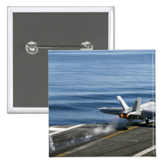 An F/A-18E Super Hornet 15 Cm Square Badge
