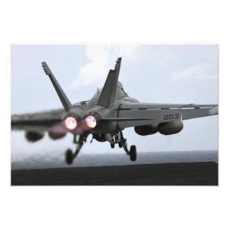 An F/A-18E Super Hornet launches Art Photo