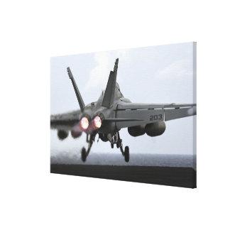An F/A-18E Super Hornet launches Canvas Print