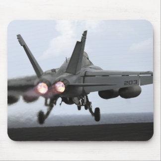 An F/A-18E Super Hornet launches Mouse Mat