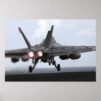 An F/A-18E Super Hornet launches Poster