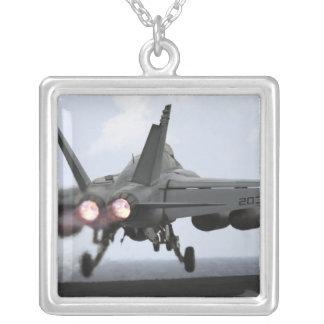 An F/A-18E Super Hornet launches Square Pendant Necklace