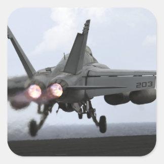 An F/A-18E Super Hornet launches Square Sticker