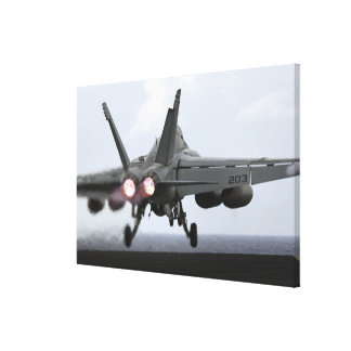 An F/A-18E Super Hornet launches Stretched Canvas Prints