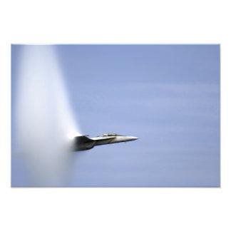 An F/A-18E Super Hornet reaches the speed of so Photo Print