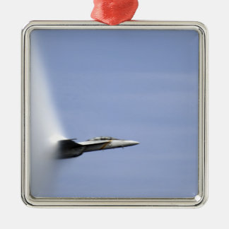 An F/A-18E Super Hornet reaches the speed of so Silver-Colored Square Decoration