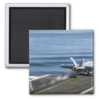 An F/A-18E Super Hornet Square Magnet