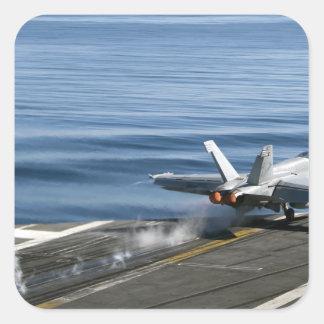 An F/A-18E Super Hornet Square Sticker