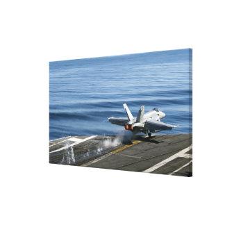 An F/A-18E Super Hornet Stretched Canvas Prints