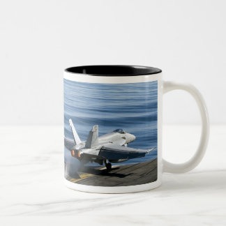 An F/A-18E Super Hornet Two-Tone Coffee Mug