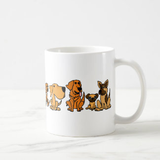 AN- Funny Rescue Dogs Group Cartoon Basic White Mug