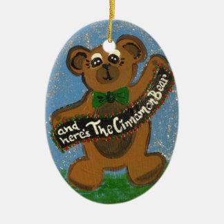 An Here's the Cinnamon Bear Christmas Ornament