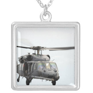 An HH-60 Pave Hawk helicopter Silver Plated Necklace