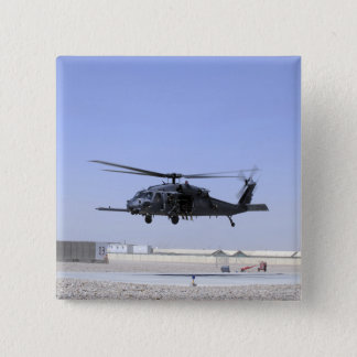 An HH-60G Pave Hawk taking off from Camp Bastio 15 Cm Square Badge
